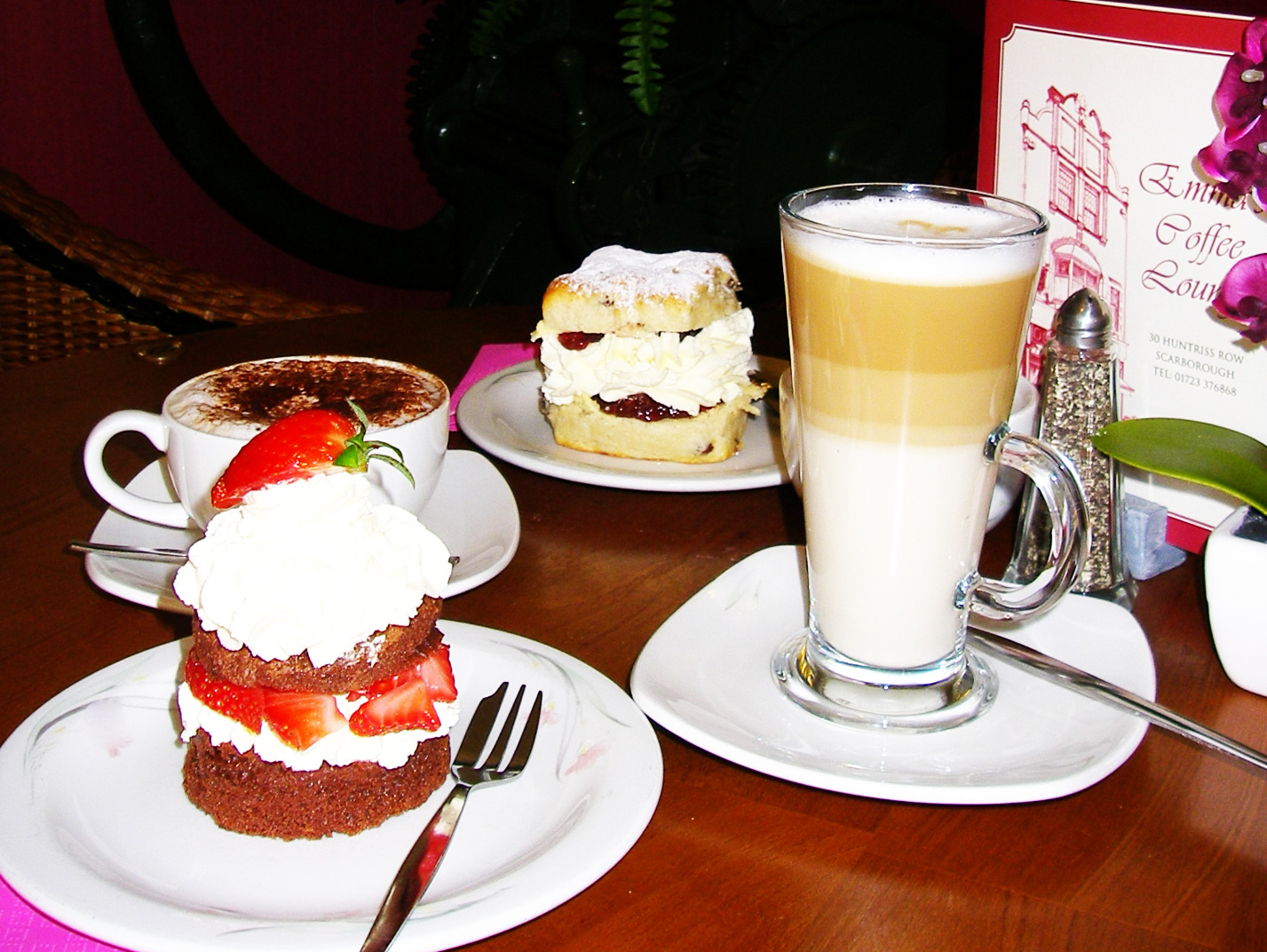 Coffee and cakes at Emma's Coffee Lounge, Scarborough