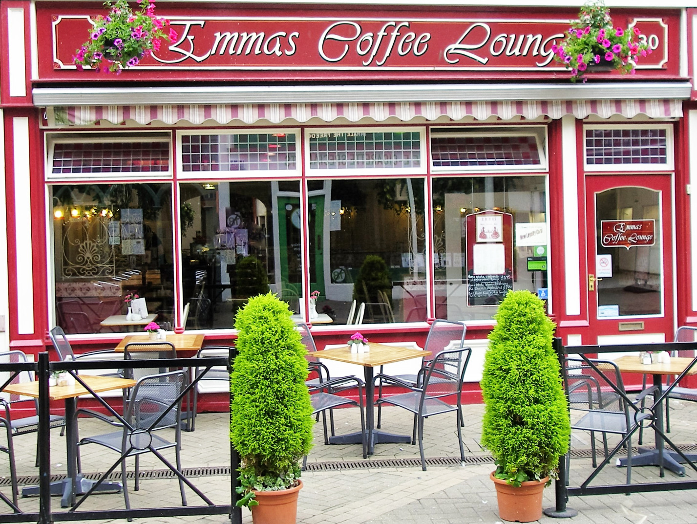 Outside Emma's Coffee Lounge, Scarborough